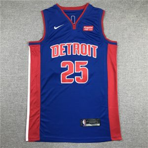 Camiseta Derrick Rose #15 Detroit Pistons azul