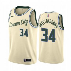 Camiseta Giannis Antetokounmpo #34 Bucks The City 2020