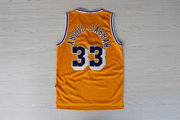 Camiseta Kareem Abdul Jabbar Lakers | Amarilla 2