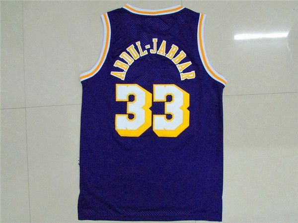 Camiseta Kareem Abdul Jabbar Lakers | Morada 2