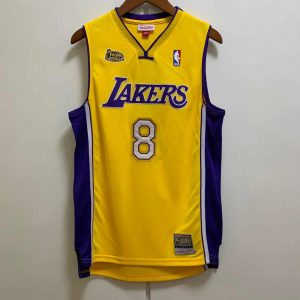 Camiseta Kobe Bryant #24 Lakers 2000-01 NBA Champions amarilla