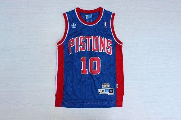 Camiseta Dennis Rodman #10 Detroit Pistons