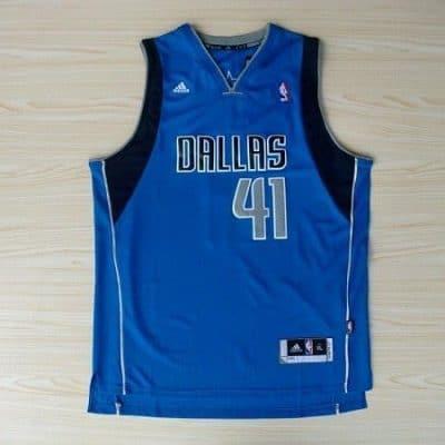 Camiseta Nowitzki Dallas Mavericks Azul