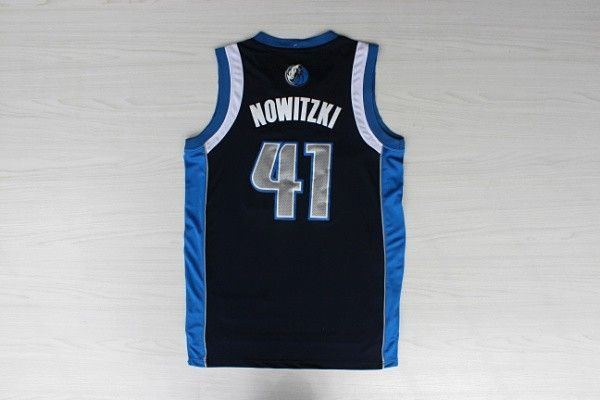 Camiseta Nowitzki Dallas Mavericks Azul oscuro