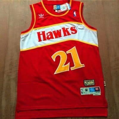 Camiseta Dominique Wilkins #21 Atlanta Hawks