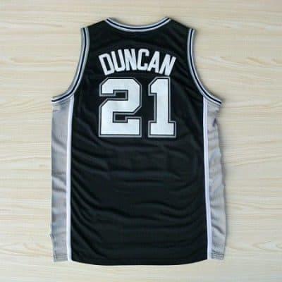 Camiseta Duncan San Antonio Spurs Negra
