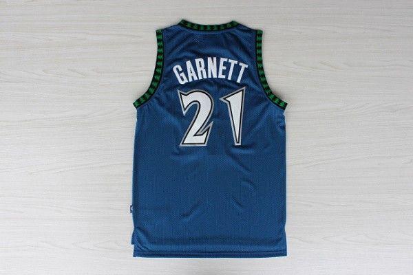 Camiseta Garnett #21 Timberwolves Azul