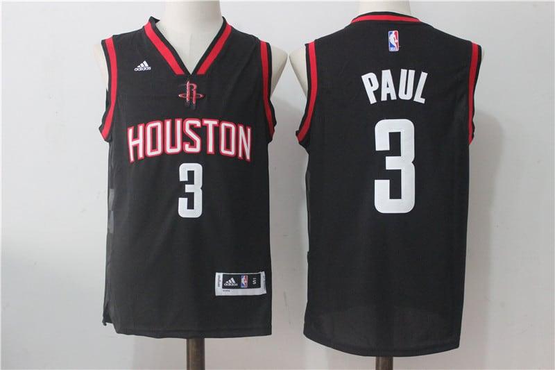 Camiseta Paul George de los Houston Rockets Negra