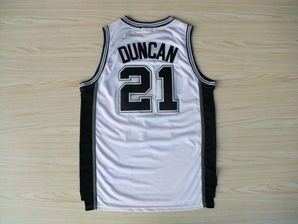 Camiseta Spurs Duncan Blanca