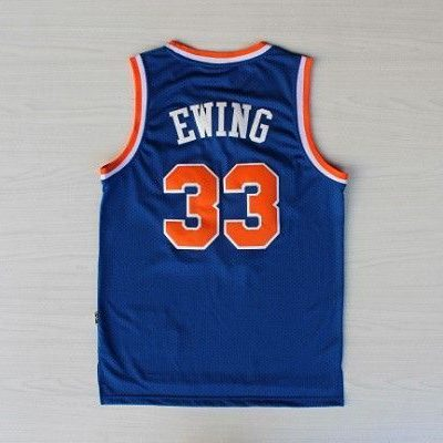 Camiseta Patrick Erwing Knicks #33 Azul