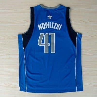 Camiseta Nowitzki #41 Mavs Azul